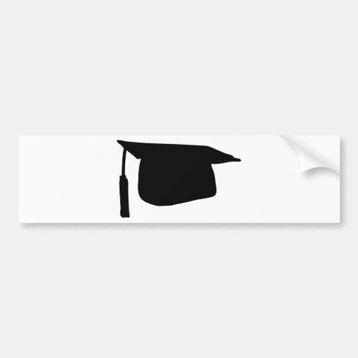 doctoral cap graduation hat car bumper sticker