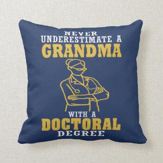 Doctoral Degree Grandma Cushion