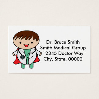 Doctors Are Super Heroes Customizable Appointment Business Card