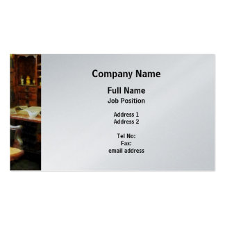 Doctor's Office - Platinum Finish Business Card Template