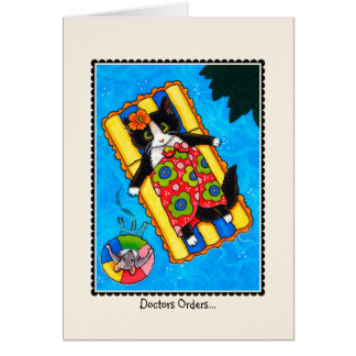 'Doctors Orders' Speedy Recovery CAT & Mouse Card