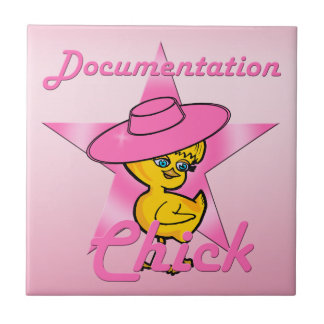 Documentation Chick #8 Small Square Tile