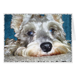 DOD: Mini German Schnauzer So Cute Card