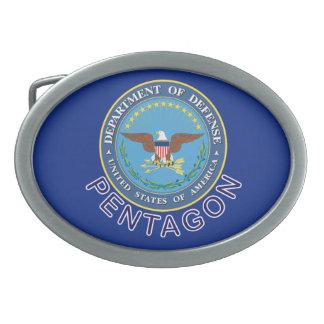 DOD Pentagon Oval Belt Buckle