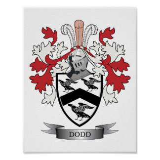 Dodd Family Crest Coat of Arms Poster