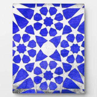 Dodecagon & Octagon Geometric Turkish Tile Pattern Photo Plaques