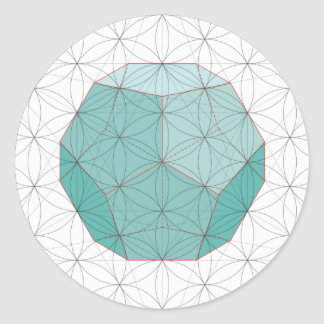 Dodecahedron Sticker