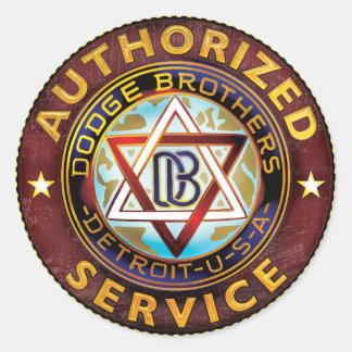 Dodge Brothers Classic Round Sticker