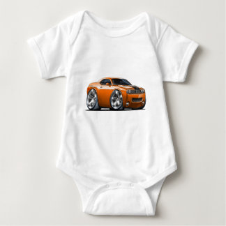Dodge Challenger Orange Car Baby Bodysuit