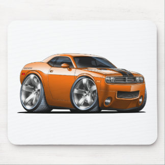 Dodge Challenger Orange Car Mouse Pad