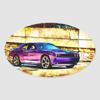 Dodge Challenger Oval Sticker