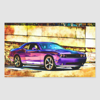 Dodge Challenger Rectangular Sticker