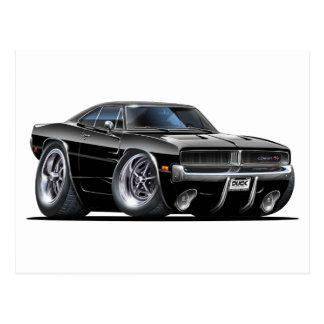 Dodge Charger Black Car Post Cards
