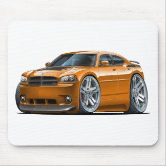 Dodge Charger Daytona Orange Car Mouse Pad
