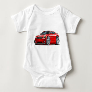 Dodge Charger Daytona Red Car Baby Bodysuit