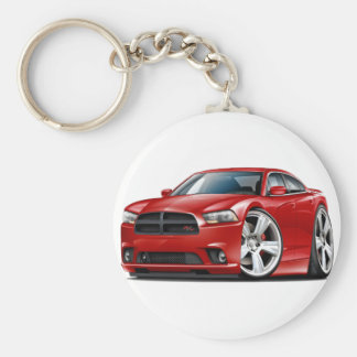 Dodge Charger RT Red Car Key Ring