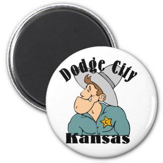 Dodge City 6 Cm Round Magnet