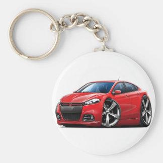 Dodge Dart Red-Black Grill Car Key Ring