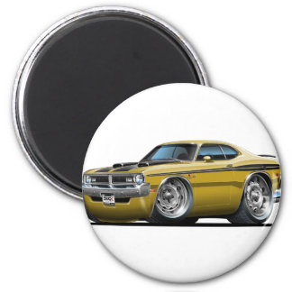 Dodge Demon Gold Car 6 Cm Round Magnet