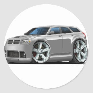 Dodge Magnum Silver Car Classic Round Sticker