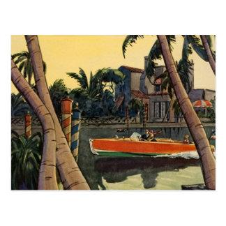Dodge Motor Speed Boat Jungle Edward Wilson Postcard