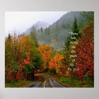 Dodge Road Print w/Scripture Verse