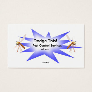 Dodge This! Pest Control Blue - Business Business Card
