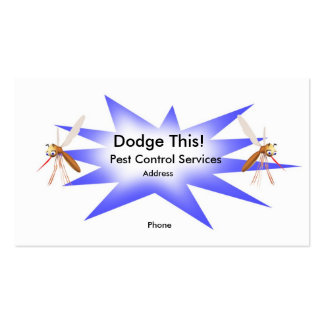 Dodge This! Pest Control Blue - Business Pack Of Standard Business Cards