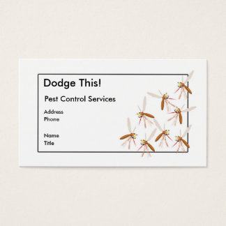 Dodge This! Pest Control - Border - Business Business Card