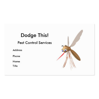 Dodge This! Pest Control - Business Pack Of Standard Business Cards