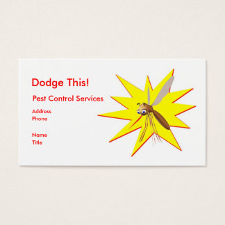 Dodge This! Pest Control Yellow Spark - Business