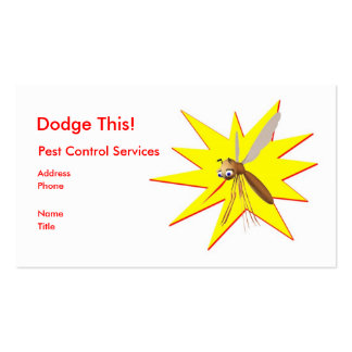 Dodge This! Pest Control Yellow Spark - Business Pack Of Standard Business Cards