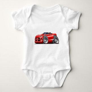 Dodge Viper Roadster Red Car Baby Bodysuit