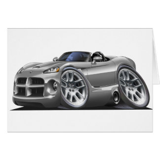 Dodge Viper Roadster Silver Car Card