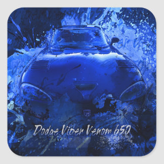 Dodge Viper Venom 650 Square Sticker