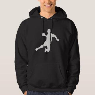 Dodgeball Player Silhouette Hoodie