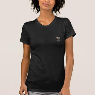 DodgeDot Icon Petite Womens Black Tshirt