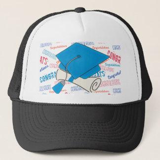 Dodger Blue Graduation Cap and Diploma