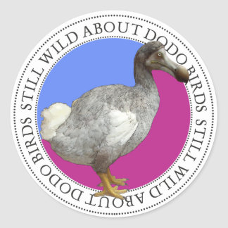 Dodo Bird Classic Round Sticker