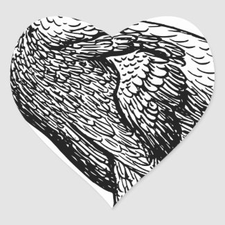 Dodo Bird Heart Sticker
