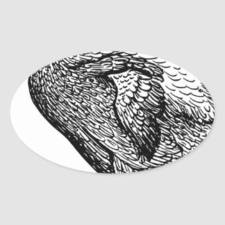 Dodo Bird Oval Sticker