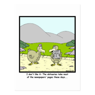 Dodo News: Dodo cartoon Postcard