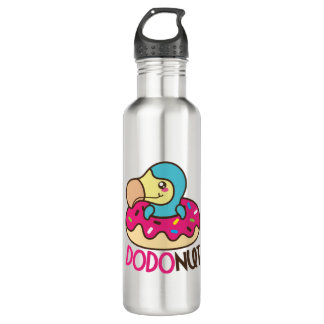 Dodonut (doughnut and dodo bird) 710 ml water bottle