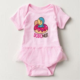 Dodonut (doughnut and dodo bird) baby bodysuit