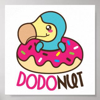 Dodonut (doughnut and dodo bird) poster
