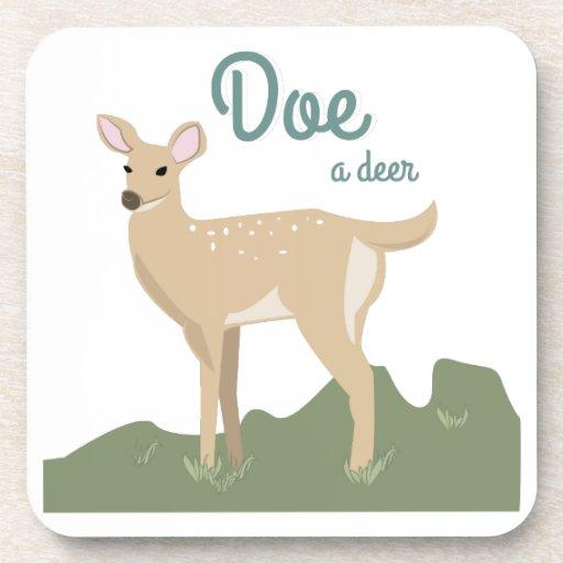 Doe A Deer Drink Coasters