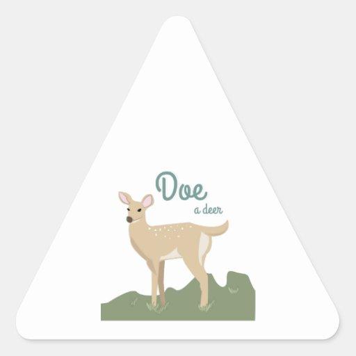 Doe A Deer Triangle Stickers