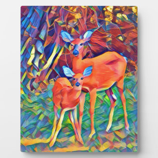 Doe and Fawn Plaque