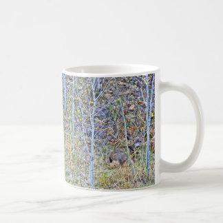 Doe deer and fawns coffee mug