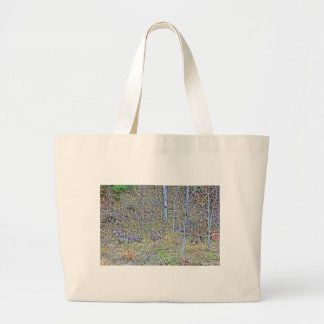 Doe deer and fawns large tote bag